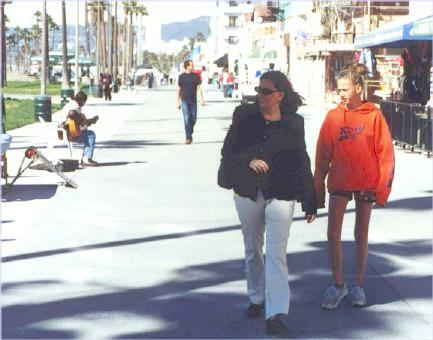 eb and Liese on the Venice Boardwalk