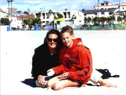 Deb and Liese on Venice Beach