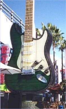 big guitar at Hard Rock Cafe