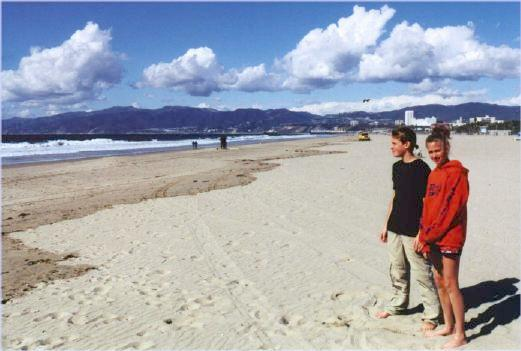 Tim and Liese look at the Pacific