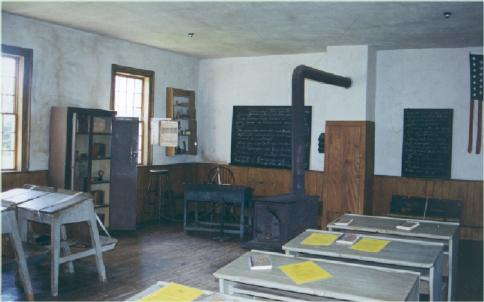one room schoolhouse built in 1840 originally located in beautiful